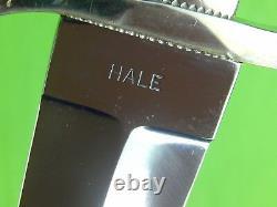 Custom Hand Made Hale Large Stiletto Fighting Knife Dagger & Gaine