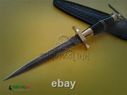 Custom Handmade Damascus Steel Swiss Dagger Knife, Tactical Dagger, Worldwar Dager
