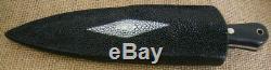 Custom Par Lee Tactique Double Edge Dagger, Couteau File, Micarta Noir, Raie