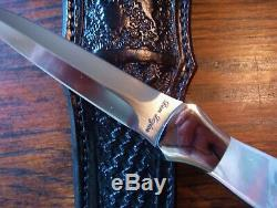 Don Personnalisé Dagger Mère Losier Véritable Pearl Fighter Boot Knife Knive