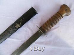 Dutch Boot Couteau Originale Nederland Fighting Dague Lame Avec Fourreau Gaine