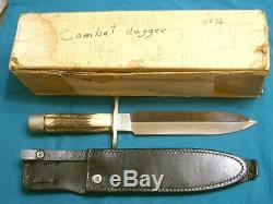 Ernie Lyle Mesure Stag Commando Combat Dirk Dagger Stiletto Couteau De Survie De Bowie