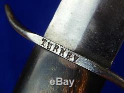 Etats-unis Turquie Turquie Première Guerre Mondiale Ww1 Stiletto Fighting Couteau Dague
