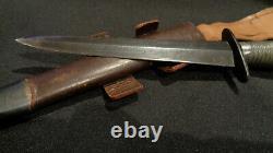 Fairbairn Sykes Stiletto Poignard. Nouvelle-zélande. Rare! Couteau De Combat F/s