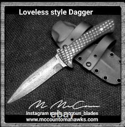 Fait À La Main Loveless Style Dague Couteau Par Mark Mccoun