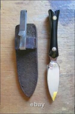 Fine Vintage Custom Whaley Jal, Nm Carbon Steel Gambler/prostitute Dagger Knife