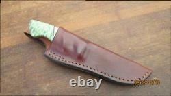 Finest Vintage Custom Buzzard Couteau De Chasse En Acier Carbone Forgé À La Main Avecdyed Burl