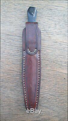 Finest Vintage Sur Mesure Cutler Huée Gambler / Couteau Dague En Acier Au Carbone De Prostitute