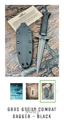 Gbrs Group Winkler Couteaux Combat Dagger N ° 132 + Gbrs Goup Autocollants