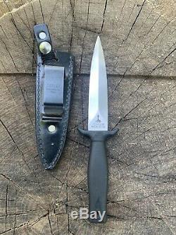 Gerber Mark 1 Botte De Combat Couteau Poignard Sn A9555s Avec Gaine En Cuir D'origine