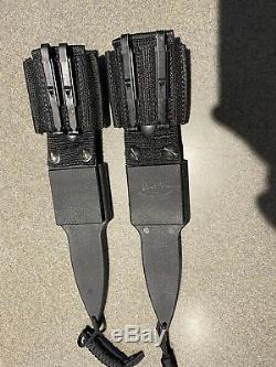 Gerber Tac 1 & 2 Dagger 1985 1ère Campagne De Production Blackie Collins Couteaux Rares