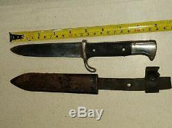 Ges. Solingen Gesch Allemand Seconde Guerre Mondiale Couteau Dague 5 Lame Fixe Gratuit E & M