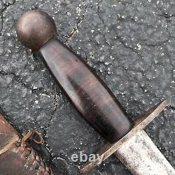 Grand Théâtre Wwii Fait Lame Fixe Tranchée Art Couteau De Combat Poignard Épée