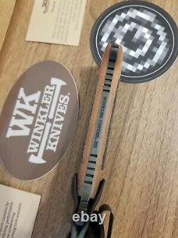 Groupe Gbrs X Couteaux Winkler Dague De Combat (tan) Nouveau Avec Stickers Slap Supdef Brouillard