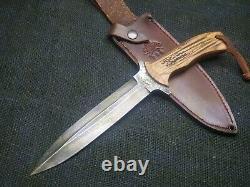Hand Made 1095 Patriot Fighting Dagger Knife Par Mark Mccoun
