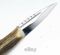 J. Nowill Sheffield Main Stag Couronne Skean-dhu Écossais Sgian Dague Couteau