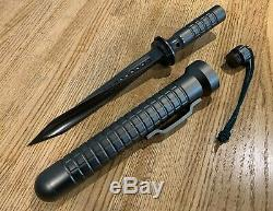 Jagdkommando Couteau Triple Twisted Tri Bord Dagger Force Spéciale À Lame Fixe