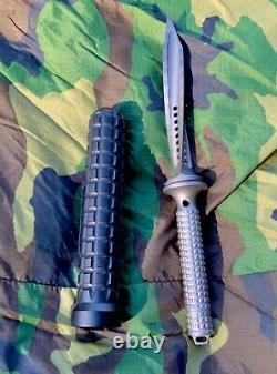 Jagdkommando Microtech Original Flamed Titanium Couteau Poignard #12 Fait