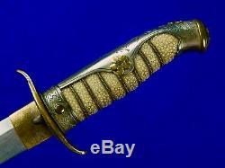 Japonisantes Japon Ww2 Dagger Tanto Fighting Couteau Fourreau 5