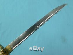 Japonisantes Japon Ww2 Dague De Marine Officier De Marine Fighting Knife & Fourreau