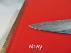Kershaw Solingen Allemagne Rostfrei Golden Eagle Fixed Blade Knife Limited Ed 4858