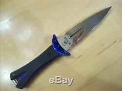 Limited Edition Buck Couteau 234 Glint Dagger Timascus G10 Poignée Le # 205/250