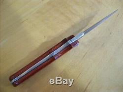 Limited Edition Buck Couteau 970 Damas Dague 2001 Utilisé Avec La Boîte Originale
