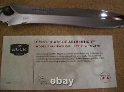 Limited Edition Buck Couteau Personnalisé 981 Dagger # 032/200 Mint Gem Beauté