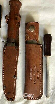 Lot 6 Couteaux Avec Gaine 2 Honing Steelmora Suède Taico Japon Pakistan Dagger