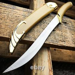 Lotr Seigneur Des Anneaux Couteau De Combat De Legolas Elven Sword Dagger + Scabbard