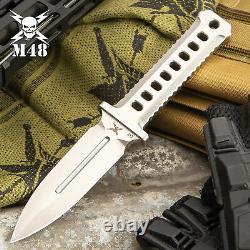 M48 Ops Combat Tactical Cnc Machine D2 Steel Fixed Blade Dagger Knife Avec Gaine