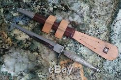 Macdonald Armouries Fairbairn Sykes Premier Motif Couteau Commando Avec Gaine