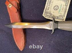 Marque Gerber Américaine II Mk2 Fighting Knife Dagger Plain Blade #036048 Rasoir Pointu