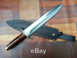 Mh Sur Mesure 18 Fighting Confédéré Carbone Couteau En Acier Rose Bois Mh-320