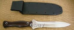 Mike Irie Ts-6 Dagger Maroon Lin Micarta Cpm-154 Couteau À Lame Fixe, Kydex