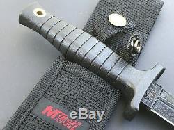 Mtech Noir Tactique 9 Fixe Lame À Double Tranchant Dague Couteau Boot + Gaine Nouveau