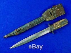 Néerlandais Pays-bas Ww2 Dagger Fighting Couteau Avec Étui Assorti #