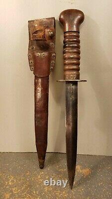 Néerlandais Pays-bas Ww2 Ww2 Wwii Dagger Fighting Knife With Sheath