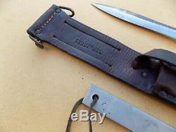 Nommé Vietnam Era Gerber Mark 2 Mk II Fighting Knife Dagger Fait En 1968