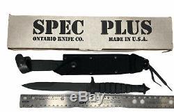 Nouveau Ontario Spec Plus Sp3-95 M-7 Bayonet Double Tranchant Couteau Dague Gaine Nos