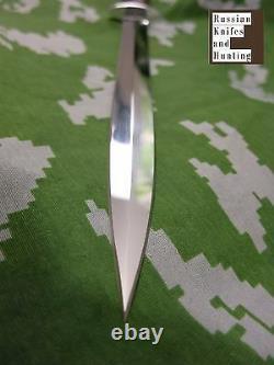 Officier Dirk Dagger Rosarms Combat Camping Couteau De Chasse Zlatoust Russe