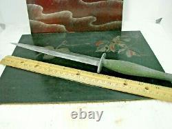 Original Ww2 Usmc Raider Stiletto Fighting Knife Par Camillus Avec Sheath Rare