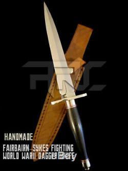 Personnalisés Faits À La Main Fairbairn Sykes De Combat Du Monde Warii Dague Couteau Avec Gaine