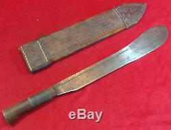 Première Guerre Mondiale Britannique Machete Bolo Fighting Couteau / Dagger W. Fourreau (robert Mole & Sons)
