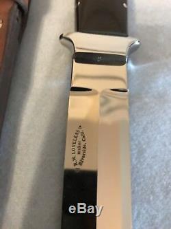 R. W. Loveless Personnalisé Couteau Riverside Maker, Prototype Take Down Dagger Rare