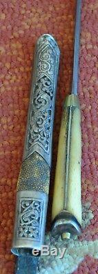 Rare Antique Couteau Chinois, Dagger, Mandchourie, Chine, Combat