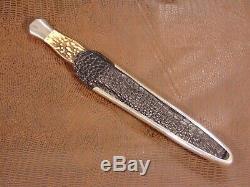 Rare Dagger Personnalisée Couteau Et Gaine Par Jim Ence & Top Colleté Hilt Collection