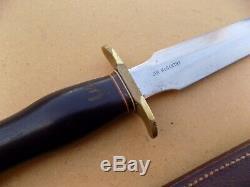 Rare Ère Du Vietnam Randall 2-8 Fighting Couteau Dague Riveté Gaine