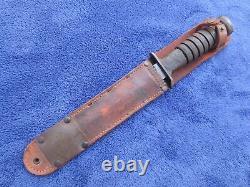 Rare Original Ww2 M3 Couteau De Combat Lame Rcc Marqué Poignard Et Lf&c 1943 Gaine