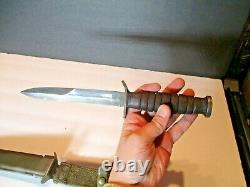 Rare Original Wwii Us M3 Trench Fighting Knife In Usm8 Scabbard Dagger